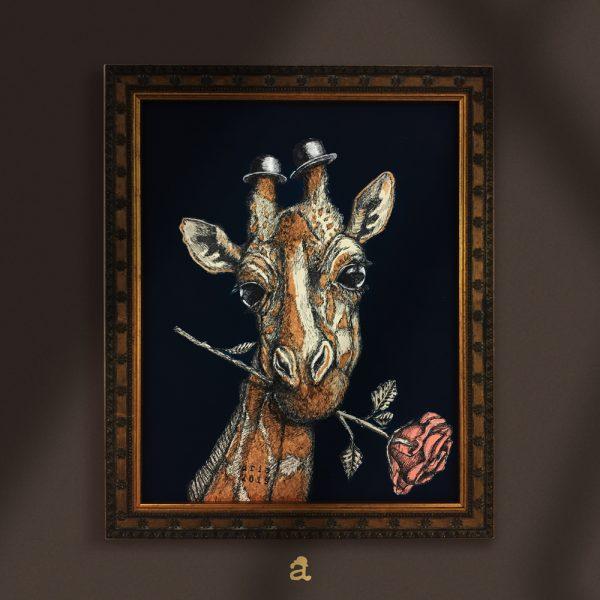 acquista un quadro con giraffa